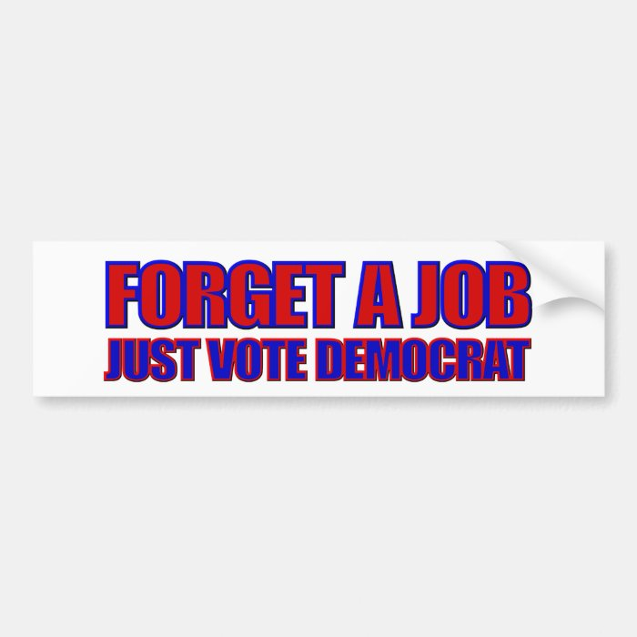 Anti-Democrat 2016 Elections Anti Hillary Bumper Sticker