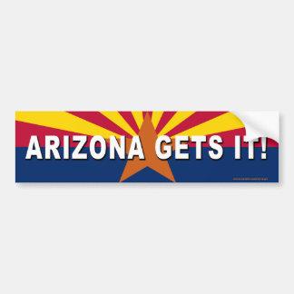 "anti Democrat ""Arizona Gets It!"" bumper sticker Car Bumper Sticker"