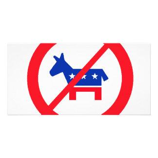 Anti-Democrat Donkey Card
