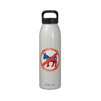 ANTI-DEMOCRAT Faded.png Drinking Bottle