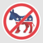 Anti-Democratic Round Sticker