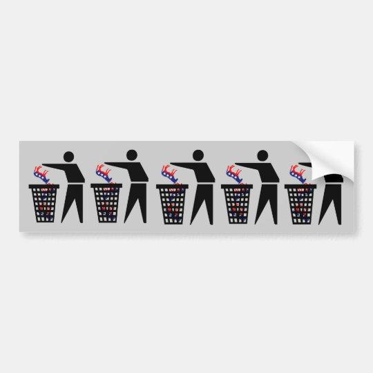 Anti Democrats Bumper Sticker