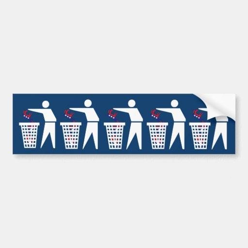Anti Democrats Bumper Stickers