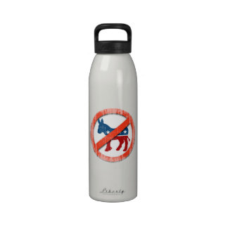 ANTI-DEMOCRATS Faded.png Reusable Water Bottle