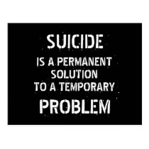 Anti Depression Suicide Prevention Postcard