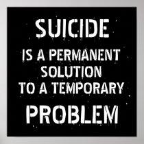 Anti Depression Suicide Prevention Poster
