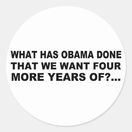 Anti - diseño de la camiseta y del regalo de Obama Pegatina Redonda