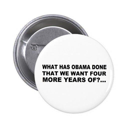 Anti - diseño de la camiseta y del regalo de Obama Pins