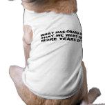 Anti - diseño de la camiseta y del regalo de Obama Ropa De Perro