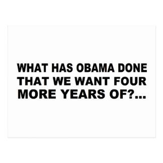 Anti - diseño de la camiseta y del regalo de Obama Tarjeta Postal