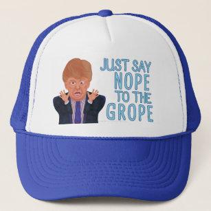 Anti Donald Trump 2016 Election Nope to the Grope Trucker Hat 0da11de1726e