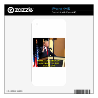 anti donald trump decal for the iPhone 4S