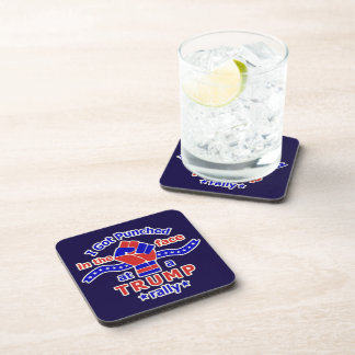 Anti Donald Trump Funny Punched in Face Beverage Coaster
