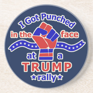 Anti Donald Trump Funny Punched in Face Drink Coaster