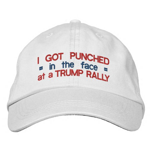 7abee54a2c0 Anti Donald Trump Funny Punched in Face Political Embroidered Baseball Hat