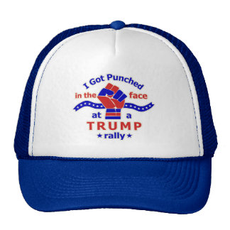 Anti Donald Trump Funny Punched in Face Trucker Hat