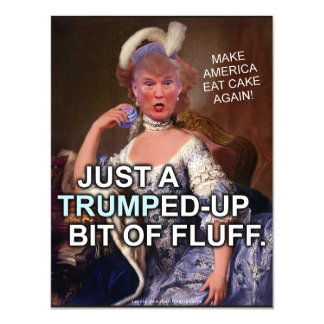 Anti Donald Trump Marie Antoinette 2016 Election Magnetic Card