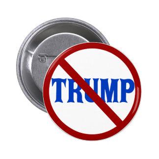 Anti Donald Trump Red Circle X Pinback Button