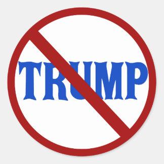 Anti Donald Trump Red X Classic Round Sticker