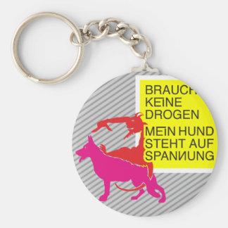 Anti drugs dog keychain
