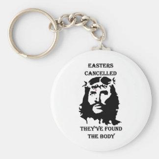 anti Easter Basic Round Button Keychain