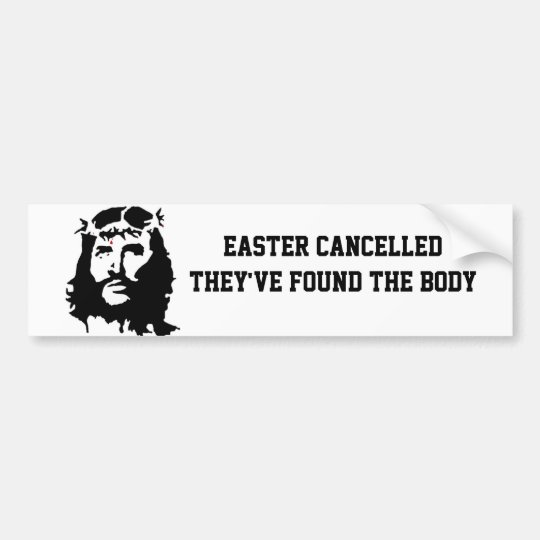 anti Easter Bumper Sticker