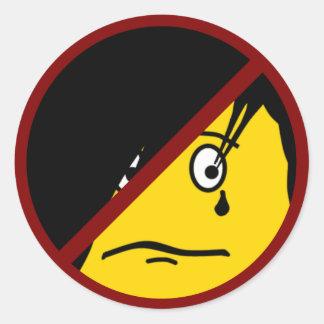 Anti EMO emoticon Sticker