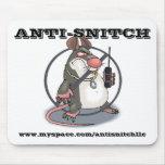 Anti-Espía ningunas ratas Mousepad