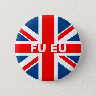 Anti EU British flag Pinback Button