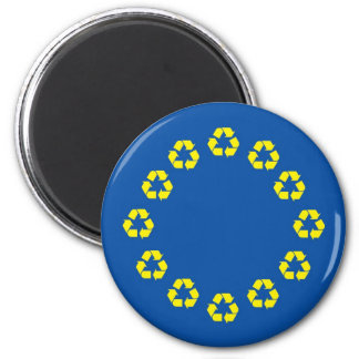 Anti EU Flag European Union Recycling Magnet