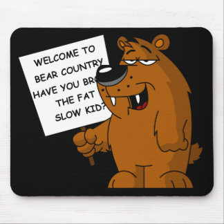 Anti fat kids mouse pad