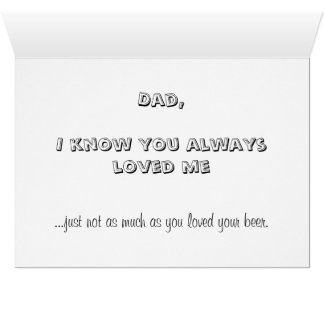 Anti Father's Day Card, bad dad family dysfunction Card