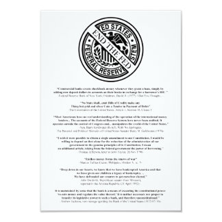 Anti Federal Reserve Logo with Famous Quotes 2 Card
