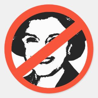 ANTI-FEINSTEIN: Engranaje de Anti-Diane Feinstein Etiquetas Redondas