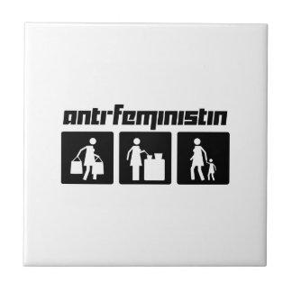 Anti-Feministin 2 Small Square Tile