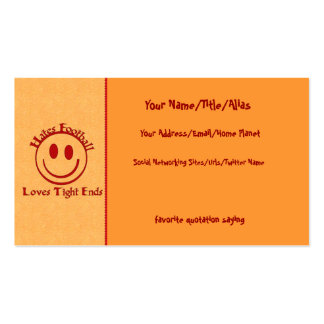 Anti-Football Humor Double-Sided Standard Business Cards (Pack Of 100)
