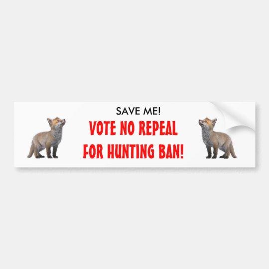 Anti fox hunting bumper sticker