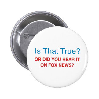 Anti Fox News Pinback Button