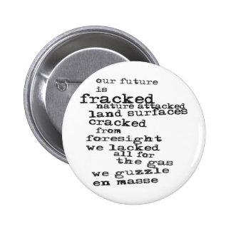 Anti-Fracking Pinback Button