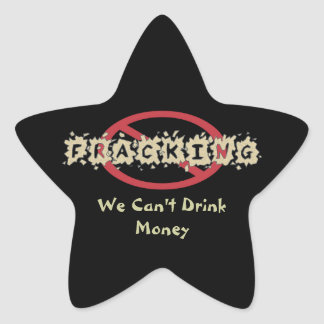 Anti Fracking Symbol Star Sticker