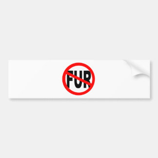 Anti Fur Design Bumper Sticker