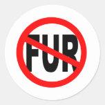 Anti Fur Design Round Sticker