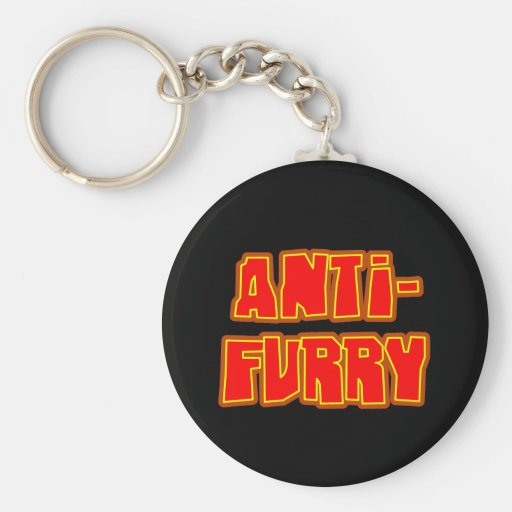 Anti Furry Keychain