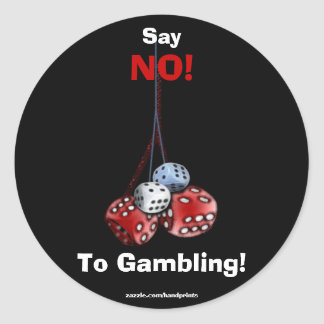 Anti-Gambling Campaign Dice Stickers