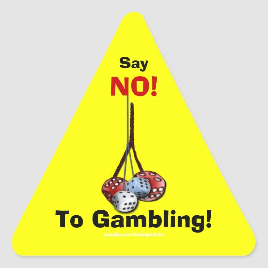 Anti-Gambling Campaign Dice Stickers