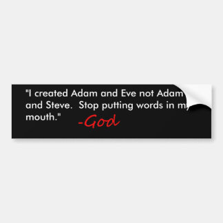 Anti Gay Marriage Bumper Sticker