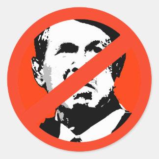 ANTI-GEORGE W. BUSH ETIQUETAS REDONDAS