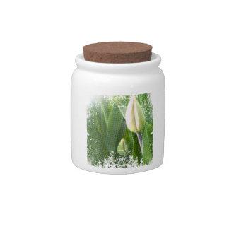 anti-glamorous tulips candy jar