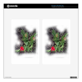 anti-glamorous tulips decals for kindle fire