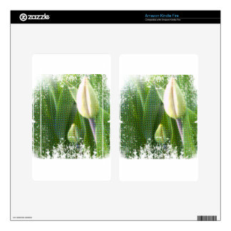 anti-glamorous tulips kindle fire skin